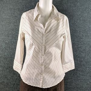 Charlotte Russe Button Blouse 3/4 Sleeves